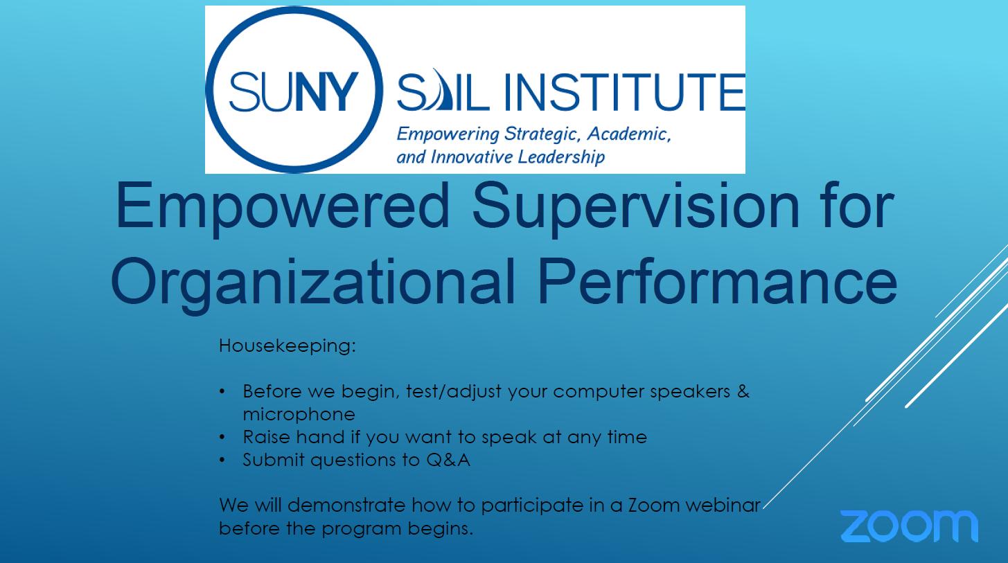 Webinars | SUNY SAIL Institute